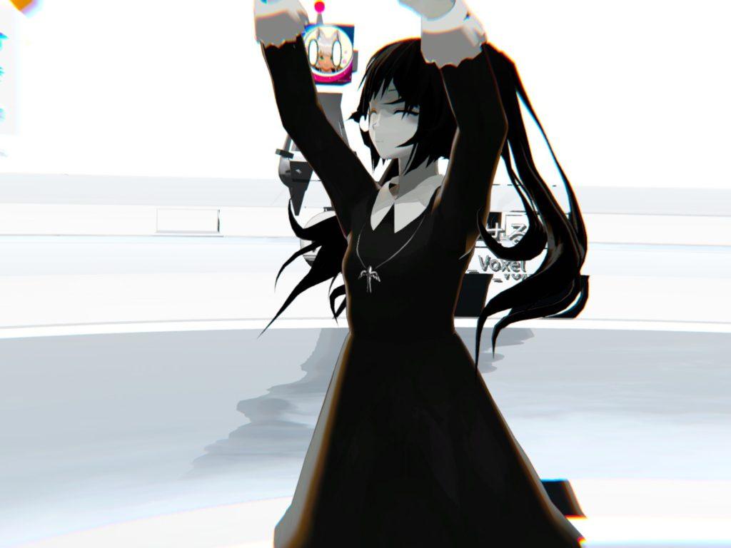 橋本真実の外見はこんな感じ。全体的にモノクロな女の子ですね。